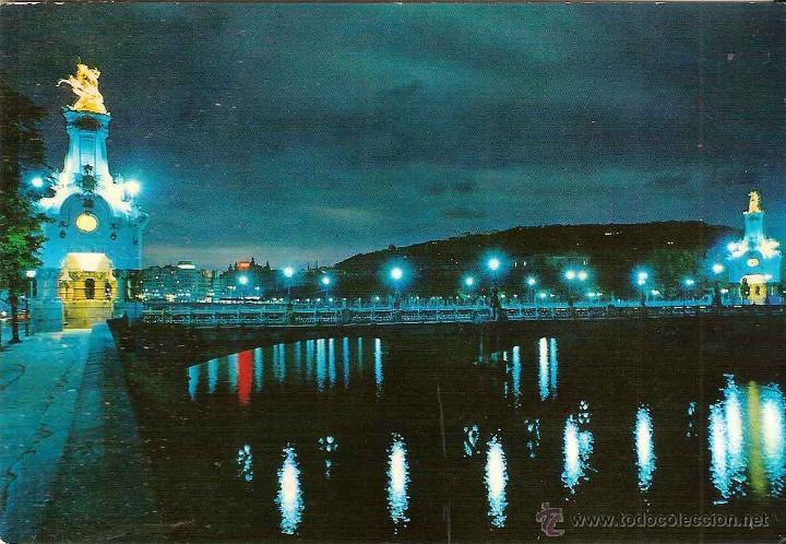 SAN SEBASTIÁN (GUIPÚZCOA), VISTA PARCIAL - BEASCOA Nº 1341 - CIRCULADA SIN SELLO (Postales - España - País Vasco Moderna (desde 1940))