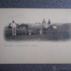 Postales: PAÍS VASCO CARRO DE BUEYES POSTAL ANTIGUA ANTERIOR A 1905. Lote 45677317