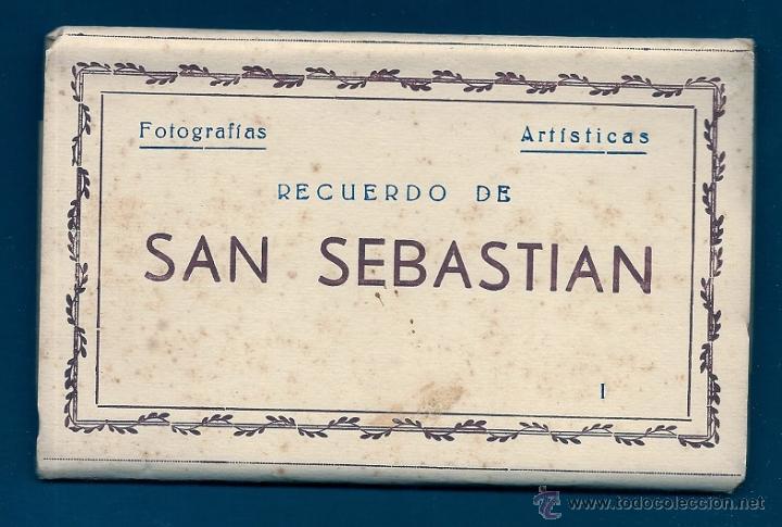 F64 - SAN SEBASTIÁN - BLOCK DE 10 ANTIGUAS FOTOGRAFÍAS ARTÍSTICAS - EDICIONES ARRIBAS (Postales - España - País Vasco Moderna (desde 1940))