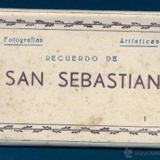 Postales: F64 - SAN SEBASTIÁN - BLOCK DE 10 ANTIGUAS FOTOGRAFÍAS ARTÍSTICAS - EDICIONES ARRIBAS. Lote 45679289