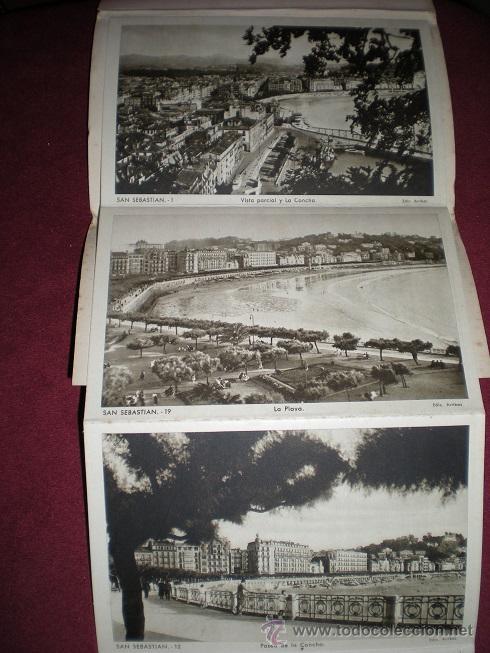 Postales: F64 - SAN SEBASTIÁN - BLOCK DE 10 ANTIGUAS FOTOGRAFÍAS ARTÍSTICAS - EDICIONES ARRIBAS - Foto 2 - 45679289