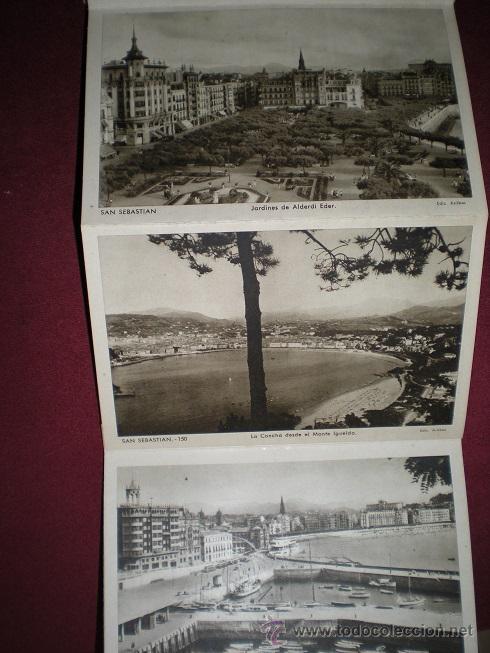 Postales: F64 - SAN SEBASTIÁN - BLOCK DE 10 ANTIGUAS FOTOGRAFÍAS ARTÍSTICAS - EDICIONES ARRIBAS - Foto 4 - 45679289