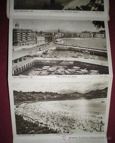 Postales: F64 - SAN SEBASTIÁN - BLOCK DE 10 ANTIGUAS FOTOGRAFÍAS ARTÍSTICAS - EDICIONES ARRIBAS - Foto 5 - 45679289