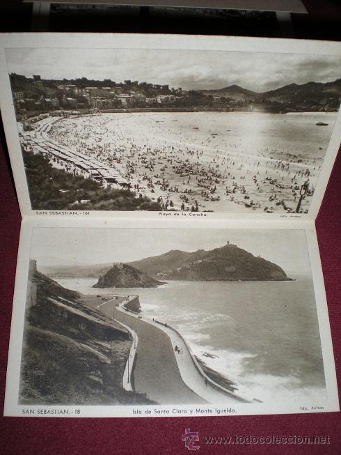 Postales: F64 - SAN SEBASTIÁN - BLOCK DE 10 ANTIGUAS FOTOGRAFÍAS ARTÍSTICAS - EDICIONES ARRIBAS - Foto 6 - 45679289