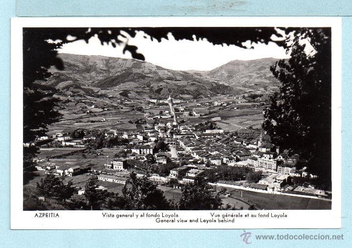 POSTAL DE AZAPEITIA VISTE GENERAL SIN CIRCULAR VER FOTOS (Postales - España - País Vasco Moderna (desde 1940))