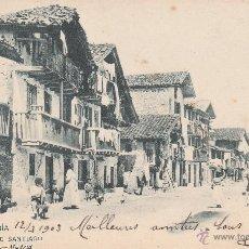 Postales: Nº 13872 POSTAL FUENTERRABIA SIN DIVIDIR HAUSER Y MENET 1903 CALLE DE SANTIAGO. Lote 45757071
