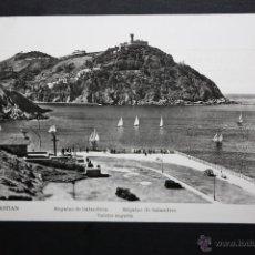 Postales: ANTIGUA FOTO POSTAL DE SAN SEBASTIAN. REGATAS DE BALANDROS. CIRCUADA. Lote 45940169