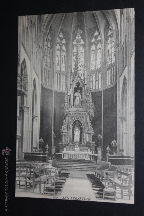 ANTIGUA POSTAL DE SAN SEBASTIAN. IGLESIA DEL BUEN PASTOR, ALTAR MAYOR. ED. GREGORIO G. GALARZA (Postales - España - País Vasco Moderna (desde 1940))