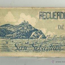 Postales: ALBUM RECUERDO DE SAN SEBASTIAN CON 12 VISTAS EDICCIÓN ARTISTICA. Lote 45998460
