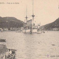 Postales: Nº 16154 POSTAL PASAGES VISTA DE LA BAHIA BARCO SELLO DEL REY BOCA ABAJO. Lote 46065807