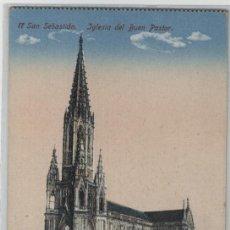 Postales: POSTAL SAN SEBASTIÁN: IGLESIA DEL BUEN PASTOR. Lote 46112750