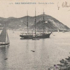 Postales: Nº 16266 POSTAL SAN SEBASTIAN BARCO ENTRADA DE LA BAHIA. Lote 46134855