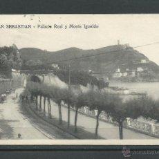 Postales: POSTAL DE SAN SEBASTIAN - PALACIO REAL Y MONTE YGUELDO - CIRCULADA. EL 12 - 10 -1919 . Lote 46172851