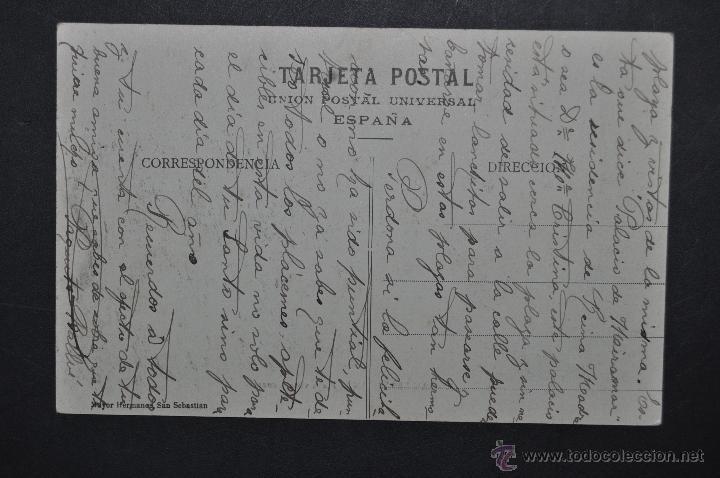 Postales: ANTIGUA POSTAL DE SAN SEBASTIAN. PLAYA, VISTA GENERAL. ED. MAYOR HERMANOS. ESCRITA - Foto 2 - 46284934