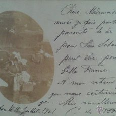 Postales: POSTAL FOTOGRAFICA BILBAO, LAVANDERAS, AÑO 1901. Lote 46295960