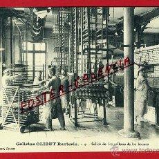 Postales: POSTAL GALLETAS OLIBET , GUIPUZCOA , SALIDA DE LAS GALLETAS DE LOS HORNOS , ORIGINAL , P97052. Lote 46387589