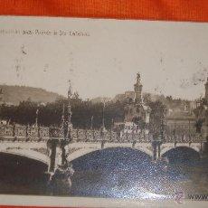 Postales: ANTIGUA POSTAL DE SAN SEBASTIAN, PUENTE DE STA. CATALINA. Lote 46399592