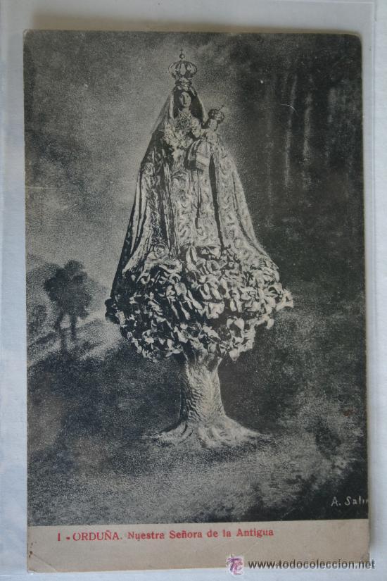 ANTIGUA POSTAL ORDUÑA. NUESTRA SEÑORA DE LA ANTIGUA. FOTOTIPIA THOMAS Nº 1. SIN CIRCULAR (Postales - España - Pais Vasco Antigua (hasta 1939))