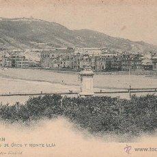 Postales: Nº 18500 POSTAL SAN SEBASTIAN SIN DIVIDIR EL BARRIO DE GROS Y MONTE ULIA HAUSER Y MENET. Lote 46447426