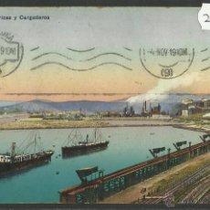 Postales: SESTAO - FABRICAS Y CARGADORES - L.G. - (27259). Lote 46453823