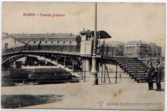 POSTAL BILBAO VIZCAYA PUENTE GIRATORIO ED. G.G.M (Postales - España - Pais Vasco Antigua (hasta 1939))