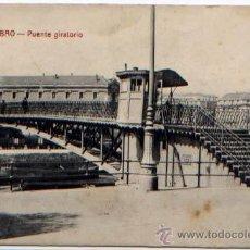 Postales: POSTAL BILBAO VIZCAYA PUENTE GIRATORIO ED. G.G.M. Lote 46520012
