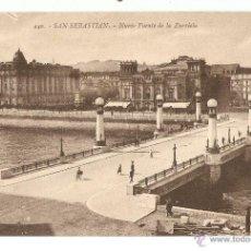 Postales: POSTAL - NUEVO PUENTE DE ZURRIOLA, SAN SEBASTIAN - EDITOR GREGORIO G GALAREA. Lote 46553222