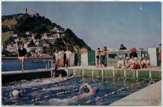 POSTAL SAN SEBASTIAN PISCINA YOLDI EN ONDARRETA GUIPUZCOA ED. FESACROM N0 10 (Postales - España - País Vasco Moderna (desde 1940))