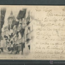 Postales: POSTAL ANTIGUA DE FUENTERRABIA - CALLE MAYOR -CIRCULADA- EL 4 - 11 - 1902 - SIN DIVIDIR- FOT .ND. Lote 46701920