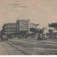 Postales: SAN SEBASTIAN: CALLE DE HERNANI.. Lote 46910644