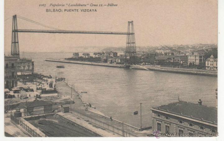 BILBAO: PUENTE VIZCAYA (Postales - España - Pais Vasco Antigua (hasta 1939))