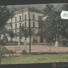 Postales: CESTONA - EL TENIS DEL BALNEARIO - A.SANTOS GRABADOR - (28119). Lote 47095725