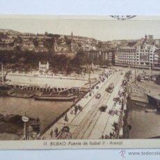 Postcards - POSTAL BILBAO - PUENTE DE ISABEL II - ARENAL, AÑO 1942 - 47129398