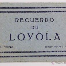 Postales: BP-11. LIBRITO 10 POSTALES DESPLEGABLES LOYOLA. AÑOS 30-40.. Lote 47202521