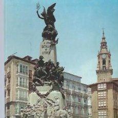 Postales: 2013 VITORIA, PLAZA DE LA VIRGEN BLANCA, MONUMENTO A LA BATALLA DE VITORIA, EDS. ARRIBAS. Lote 130252784