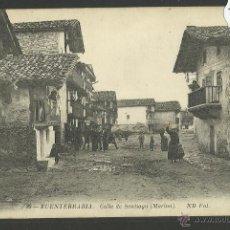 Postales: FUENTERRABIA - HONDARRIBIA - 80 - CALLE DE SANTIAGO - ND FOT- (ZB-124). Lote 47310447