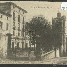 Postales: IRUN - ESCUELAS Y IGLESIA - REVERSO SIN DIVIDIR - E.J.G . (ZB-129). Lote 47310807