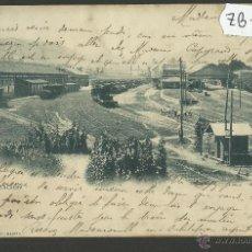 Postales: IRUN - LA ESTACION - 921 - HAUSER Y MENET - REVERSO SIN DIVIDIR - (ZB-140). Lote 47311128