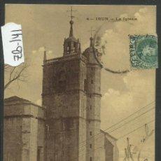 Postales: IRUN - LA IGLESIA - 4 - CAB - (ZB-141). Lote 47311168