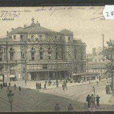 Postales: BILBAO - TEATRO ARRIAGA - 1051 HAUSER Y MENET - (28730). Lote 47331148