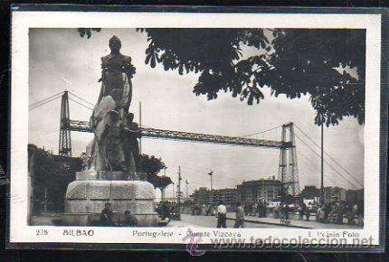 TARJETA POSTAL DE BILBAO, VIZCAYA - PORTUGALETE. PUENTE VIZCAYA. 228. L.ROISIN (Postales - España - Pais Vasco Antigua (hasta 1939))