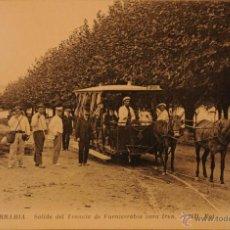 Postales: FUENTERRABIA - TRANVIA PARA IRUN - FOTOGRAFIA IMPRESA SIN CIRCULAR Y DORSO DIVIDIDO - MUY BUENA. Lote 47415302
