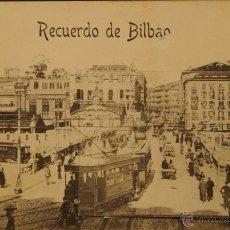 Postales: BILBAO - RECUERDO CON VISTAS DESPLEGABLES - FOTOGRAFIA IMPRESA CIRCULADA Y DORSO DIVIDIDO. Lote 47457957