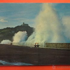 Postales: POSTAL - SAN SEBASTIAN - GRANDES MAREAS - FOTO COLOR GALARZA - NO CIRCULADA. Lote 47647465
