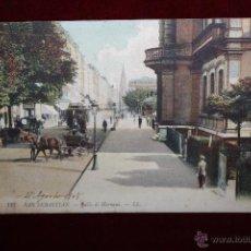 Postales: ANTIGUA POSTAL DE SAN SEBASTIAN - CALLE DE HERNANI. CIRCULADA. Lote 47814173
