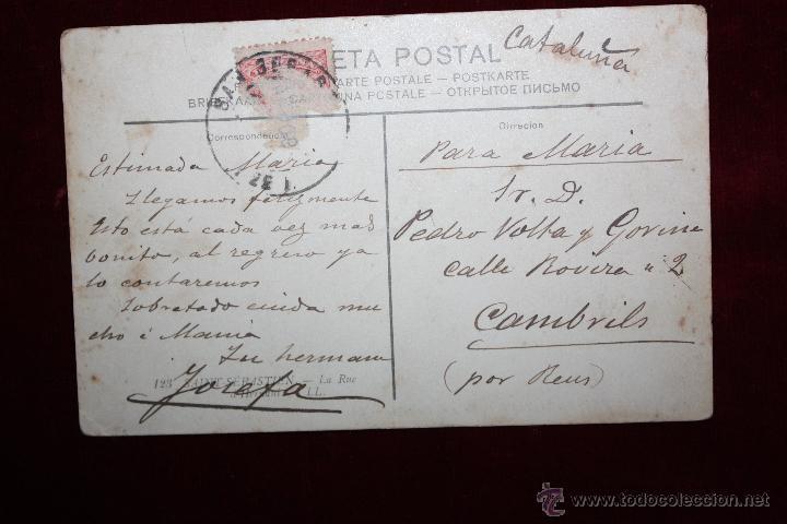 Postales: ANTIGUA POSTAL DE SAN SEBASTIAN - CALLE DE HERNANI. CIRCULADA - Foto 2 - 47814173