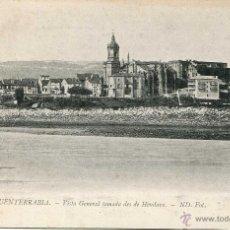 Postales: FUENTERRABIA VISTA GENERAL TOMADA DESDE HENDAYA ND. Lote 48001212