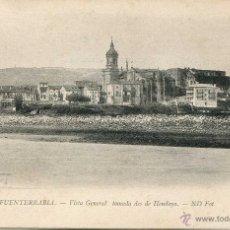 Postales: FUENTERRABIA - VISTA GENERAL TOMADA DESDE HENDAYA ND. Lote 48003465