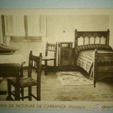 Postales: ANTIGUA POSTAL DE LAS TERMAS DE MOLINER, CARRANZA (VIZCAYA). UNA HABITACION. . Lote 48305764