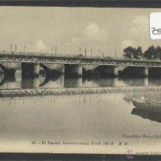 Postales: IRUN - PUENTE INTERNACIONAL DESDE IRUN - 16 - MARCEL DELBOY - (ZB-1256). Lote 48320254
